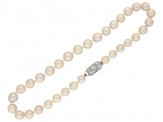 South Sea cultured pearl necklace diamond clasp Berganza hatton garden