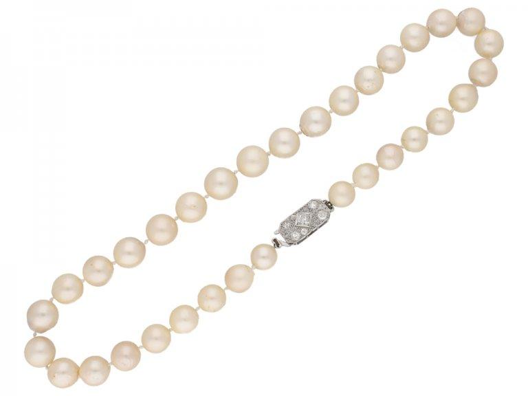 South Sea cultured pearl necklace diamond clasp Berganza hatton garden