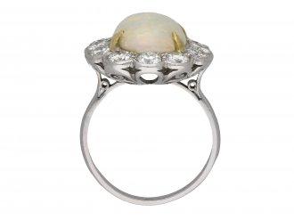 Opal and diamond coronet cluster ring berganza hatton garden