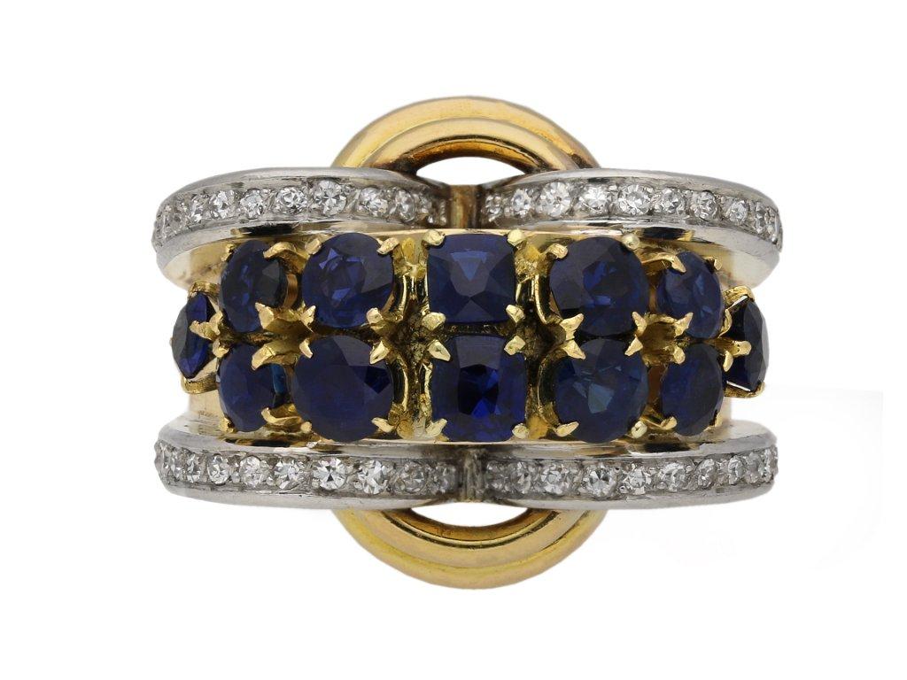 Sapphire and diamond cocktail ring berganza hatton garden