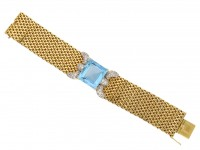 Aquamarine and diamond bracelet berganza hatton garden