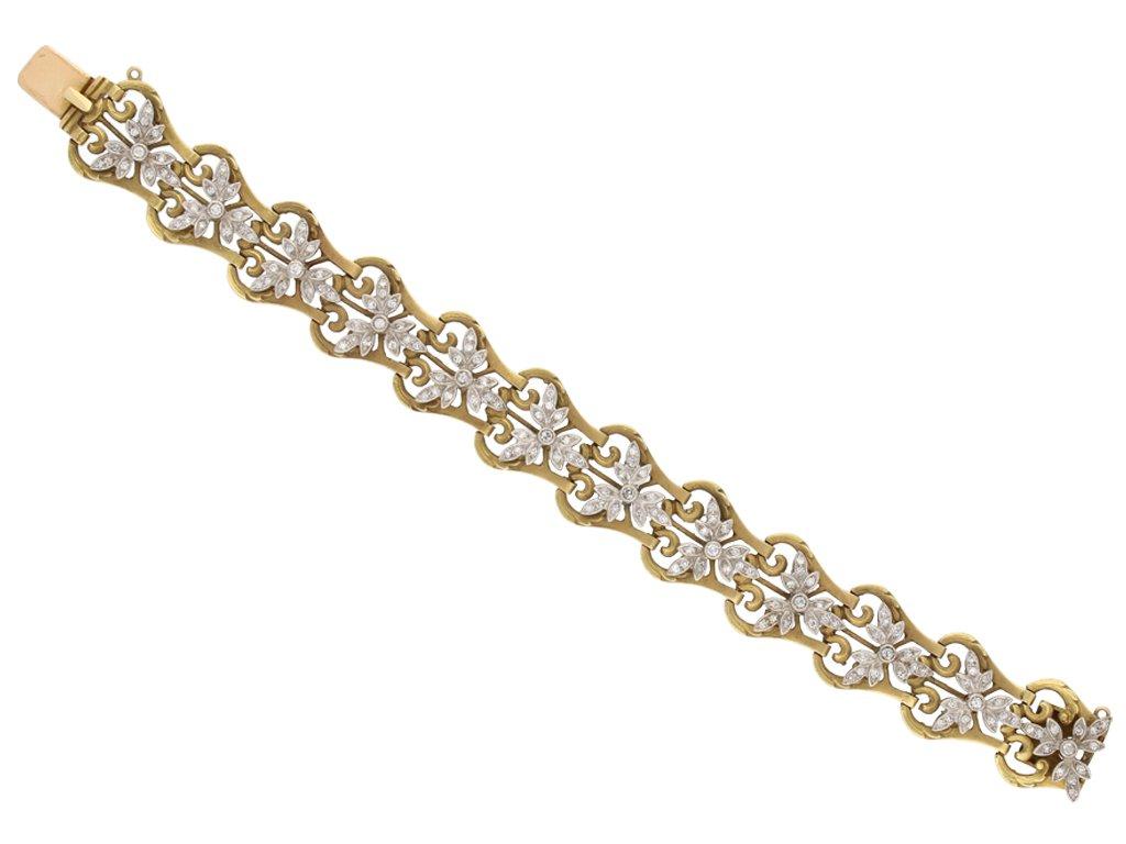 Art Nouveau diamond bracelet berganza hatton garden