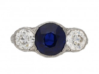 Antique sapphire and diamond ring berganza hatton garden