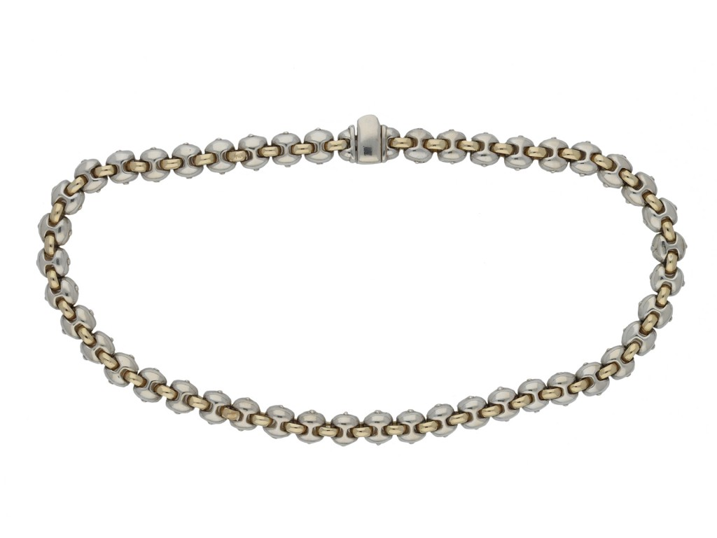 Silver and gold necklace hatton garden