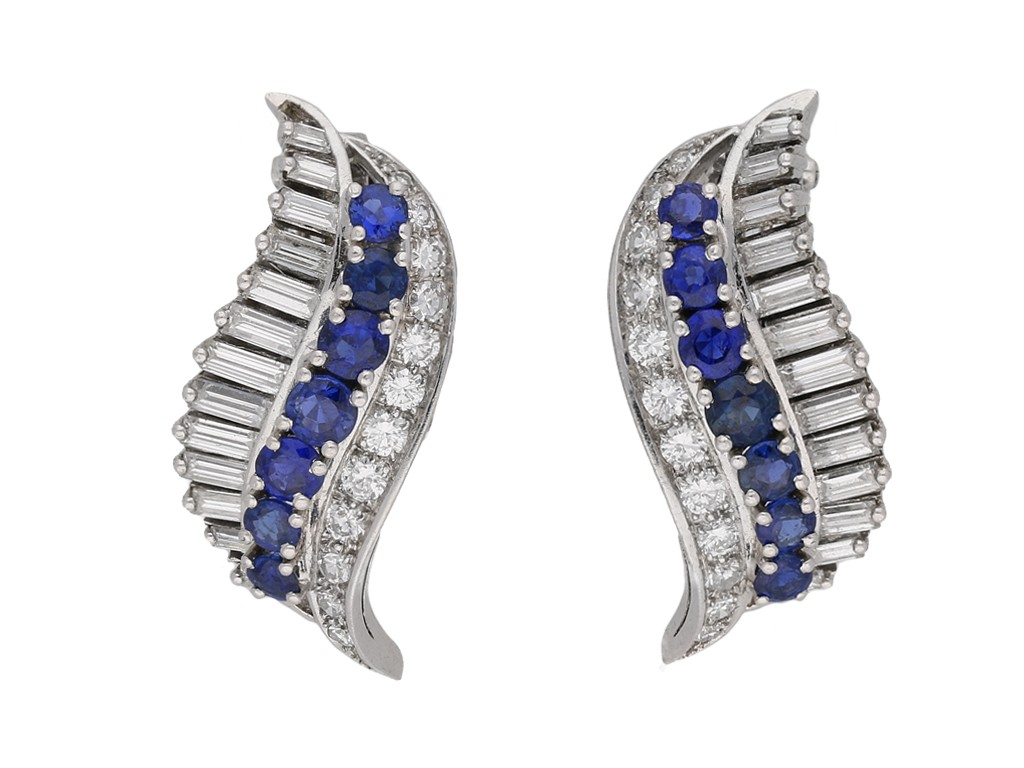 Gubelin sapphire diamond earrings Berganza hatton garden