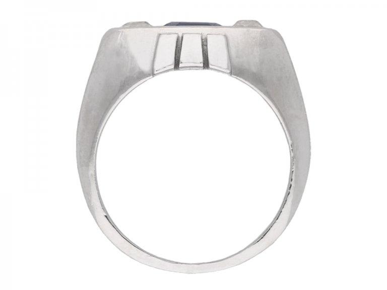 Art Deco Sapphire and Diamond Ring berganza hatton garden
