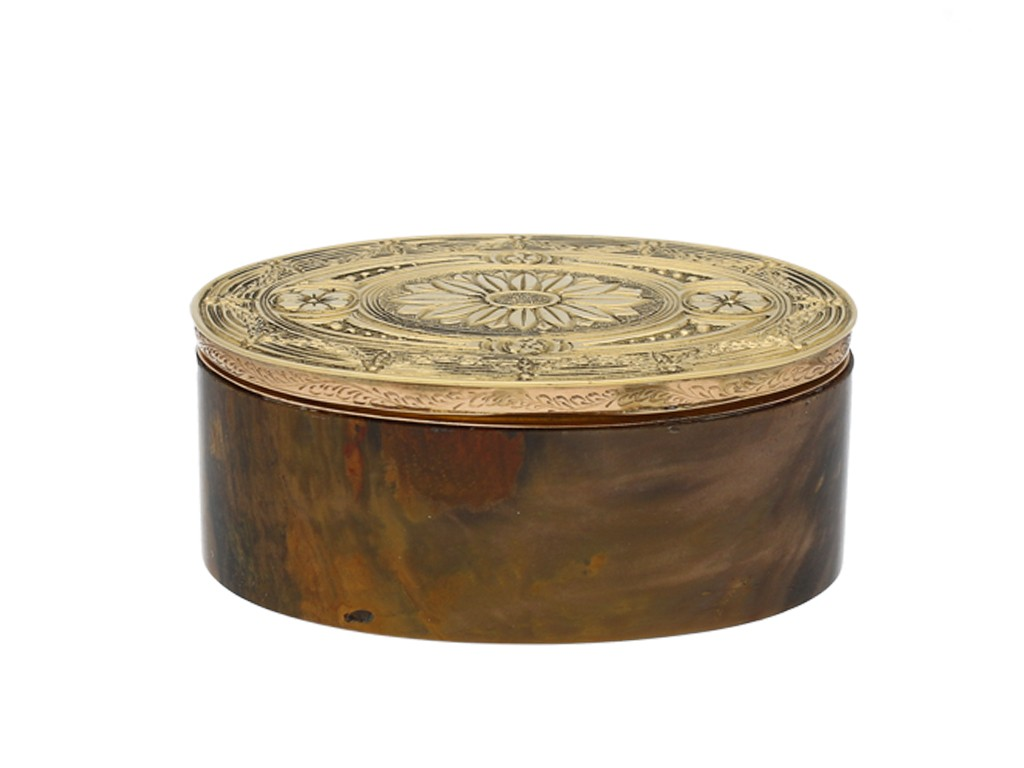 Gold topped stone box, Circa 1900 berganza hatton garden