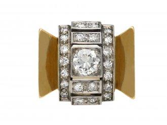 Diamond cocktail ring, circa 1940 berganza hatton garden