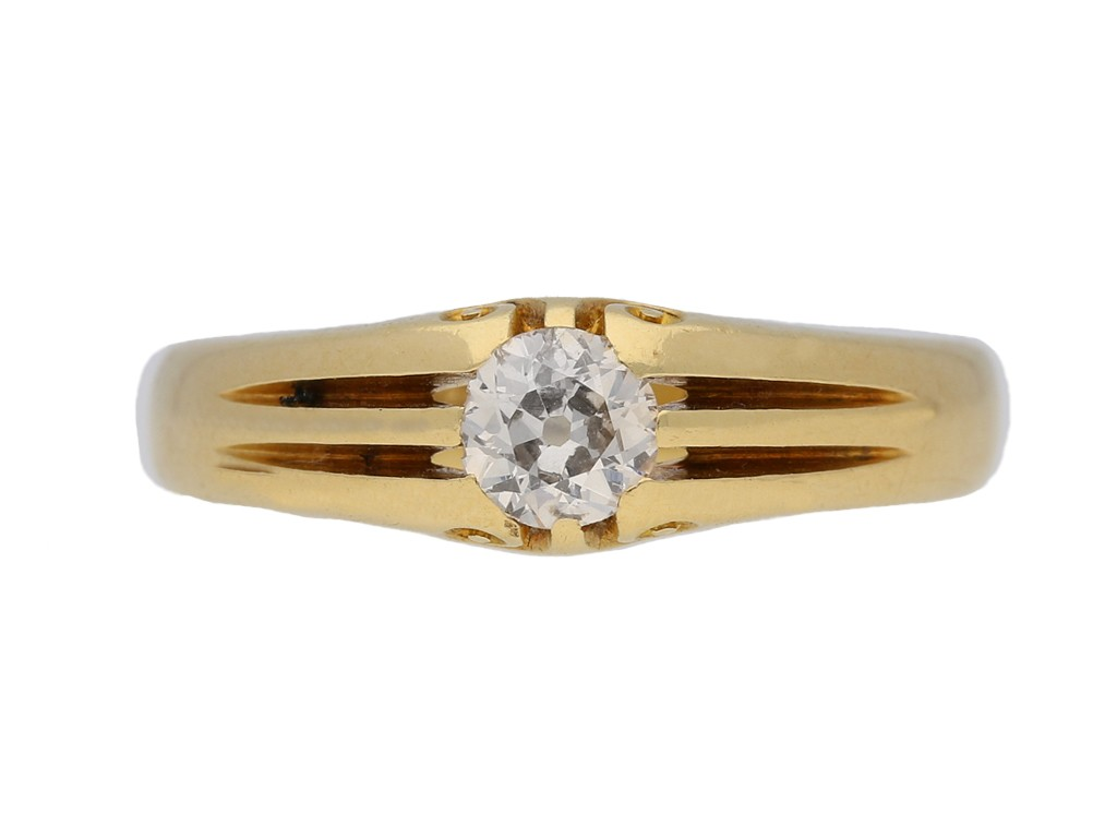Antique Solitaire diamond ring berganza hatton garden