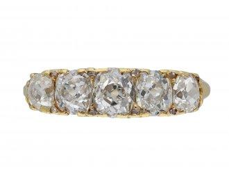 Antique diamond five stone ring hatton garden