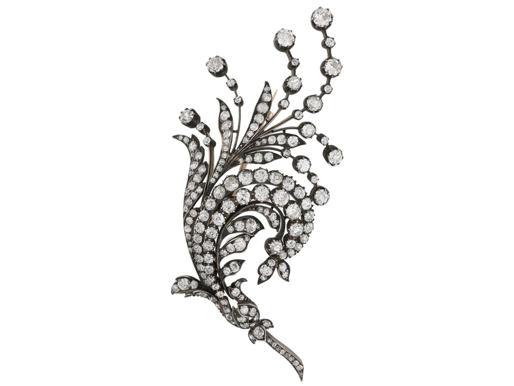 Antique diamond spray brooch, Germany berganza hatton garden