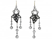 Old mine diamond girandole earrings berganza hatton garden