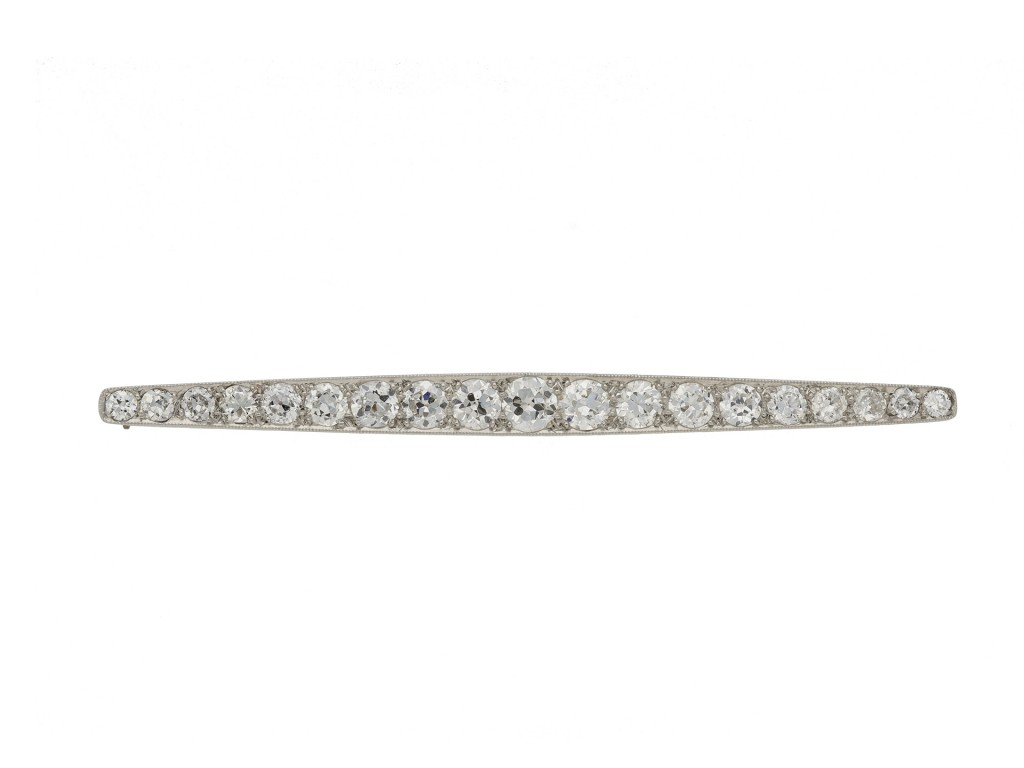 Art Deco diamond bar brooch berganza hatton garden