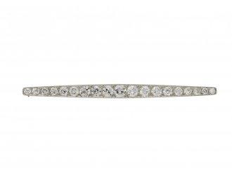 Art Deco diamond bar brooch berganza hatton garden