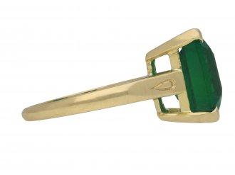 Vintage emerald solitaire ring berganza hatton garden