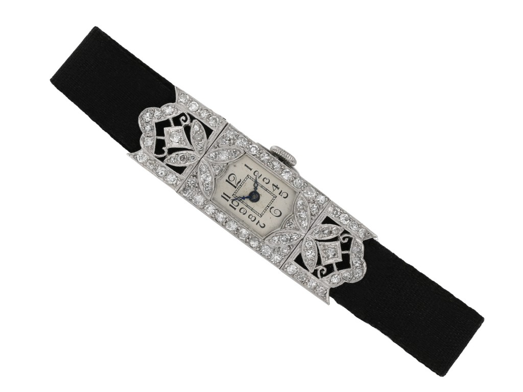 Art Deco diamond set dress watch berganza hatton garden