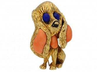 Mauboussin Paris dog brooch berganza hatton garden
