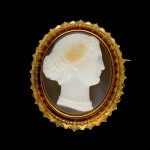 Victorian hardstone cameo brooch, French, circa 1900