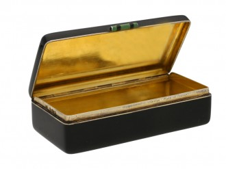 Cartier enamelled silver gilt box berganza hatton garden