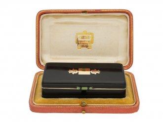 Cartier enamelled silver gilt box berganza hatton garden