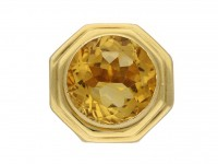 Fred of Paris solitaire citrine ring berganza hatton garden