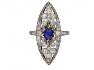 Belle Époque sapphire and diamond ring berganza hatton garden