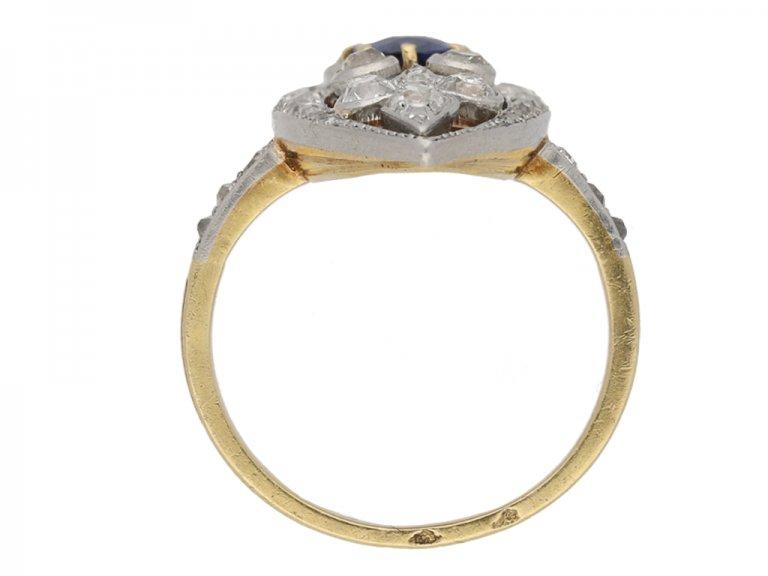 Belle Époque sapphire and diamond ring berganza hatton garden
