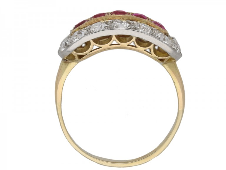 Ruby and diamond saddle ring berganza hatton garden