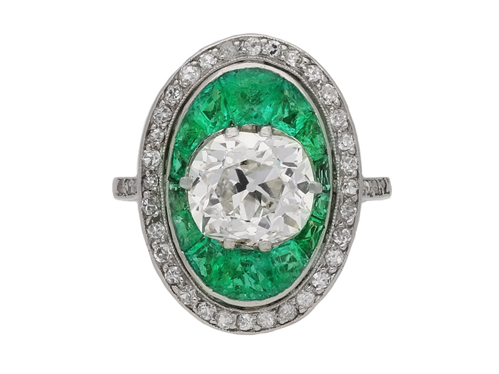 antique diamond emerald ring berganza hatton garden