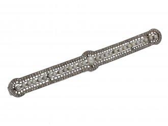 Edwardian pearl and diamond bar brooch berganza hatton garden