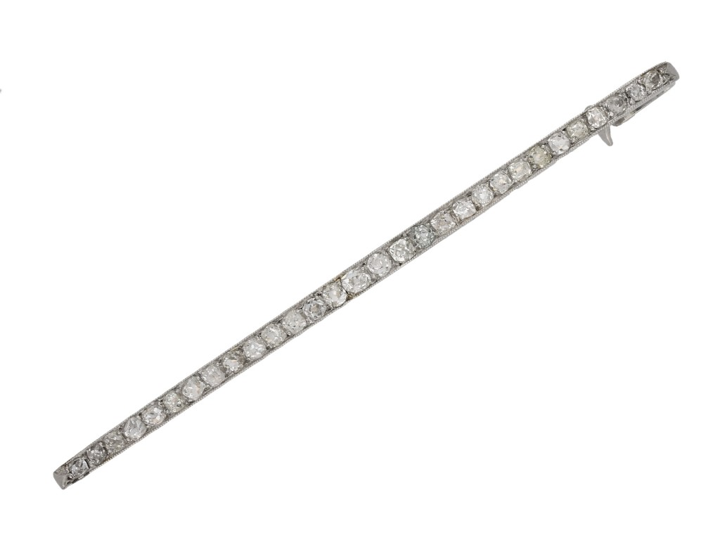 Edwardian diamond bar brooch berganza hatton garden