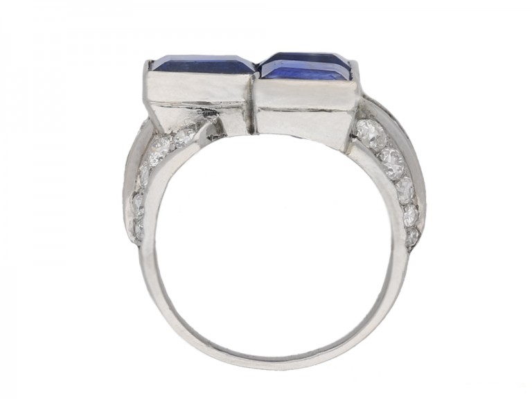 art deco blue sapphire diamond ring hatton garden berganza