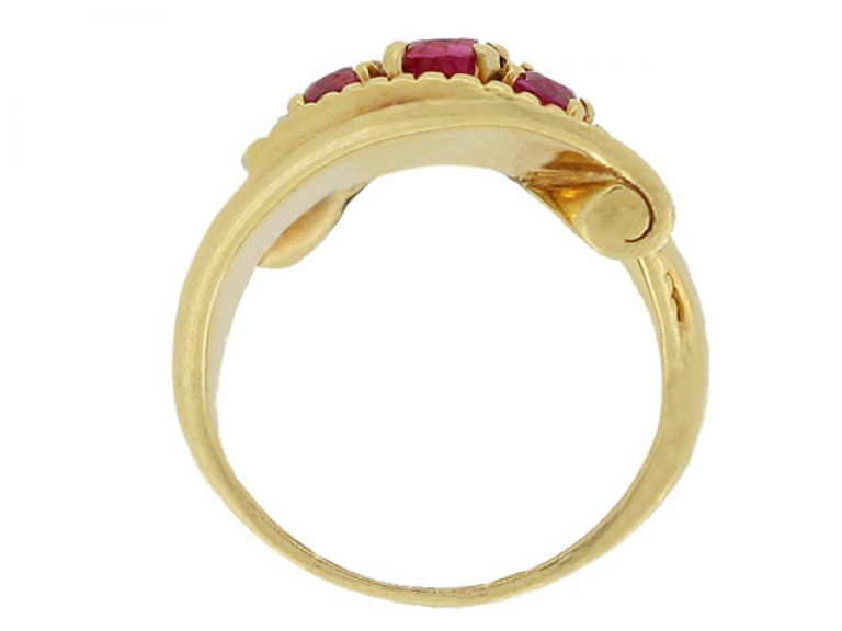 back view J. E. Caldwell ruby and diamond cocktail ring