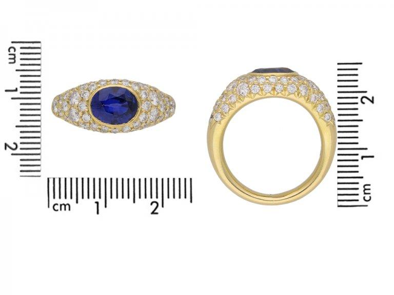 Vintage sapphire and diamond ring berganza hatton garden