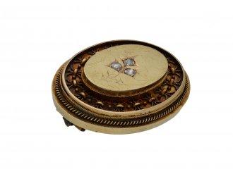 Antique rose diamond set brooch berganza hatton garden