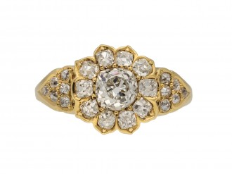 old mine diamond coronet cluster ring berganza hatton garden