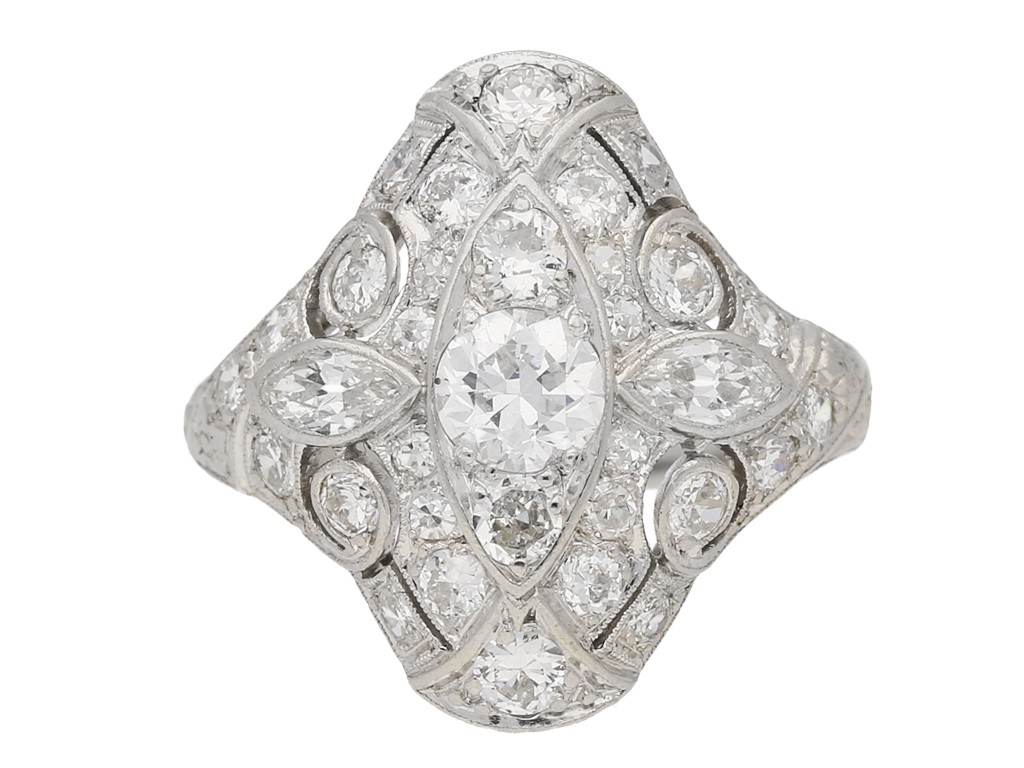 Round marquise diamond ring berganza hatton garden
