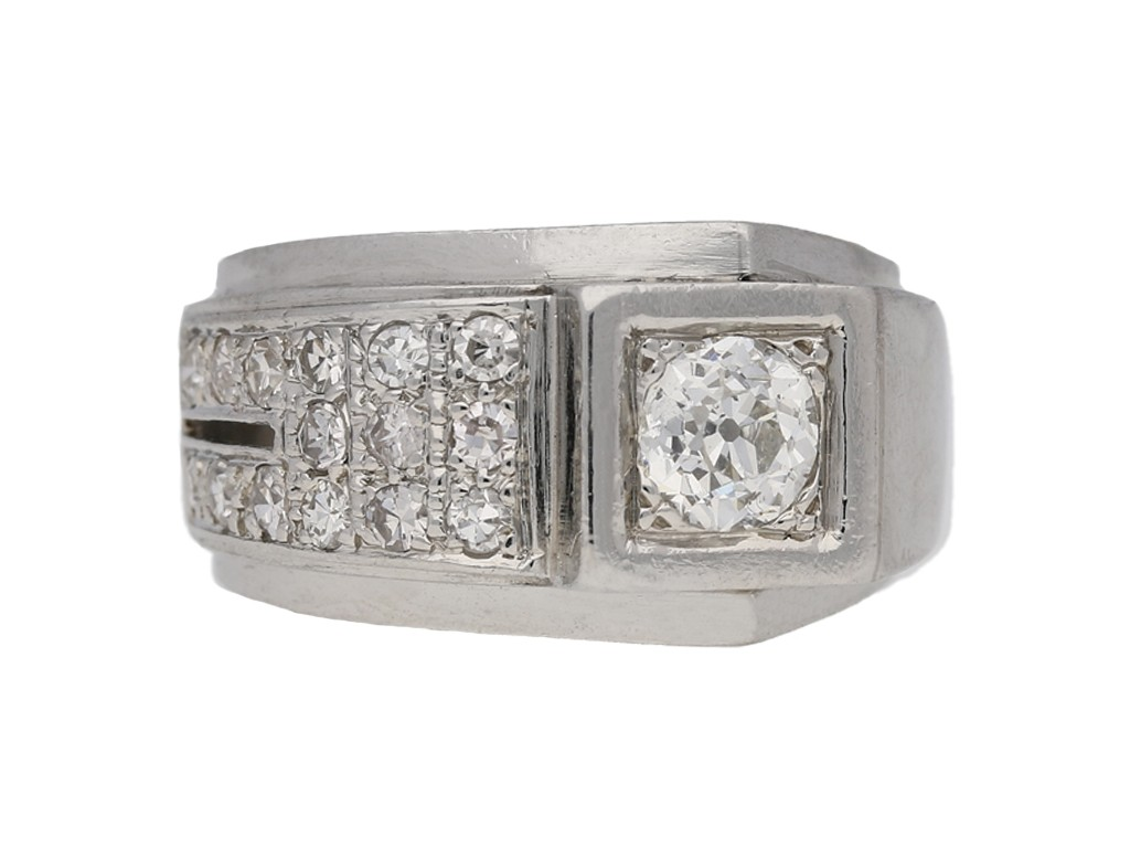 vintage Diamond cocktail ring berganza hatton garden