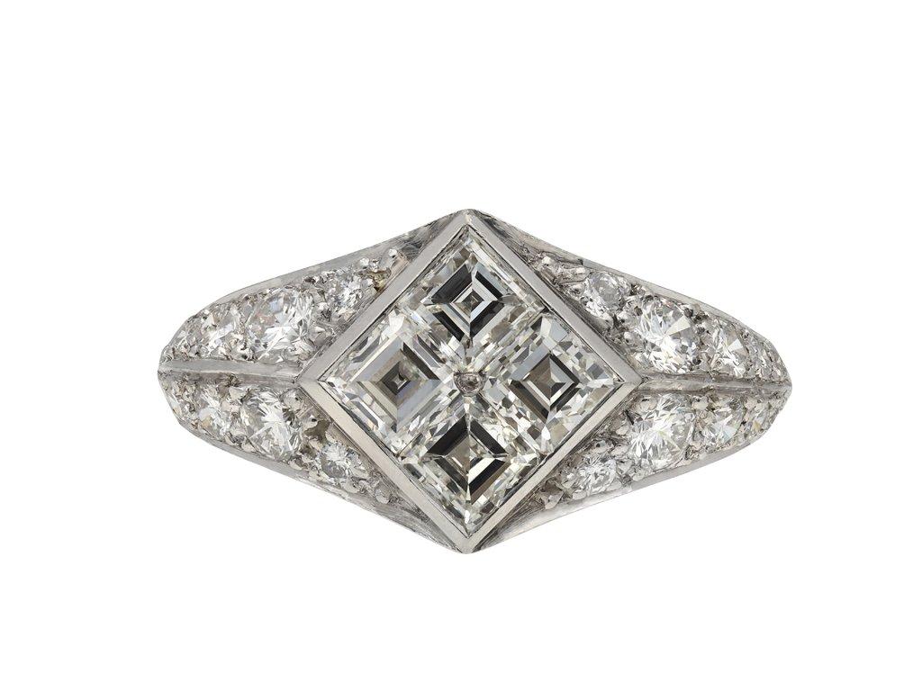Vintage diamond cluster ring hatton garden