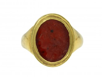 Ancient Roman cornelian intaglio of Apollo hatton garden