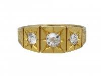 Victorian three stone diamond ring hatton garden berganza