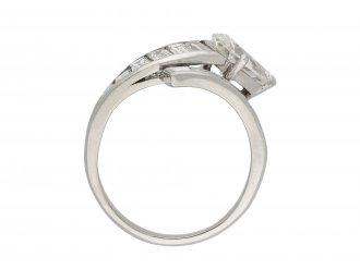 Vintage diamond crossover ring hatton garden