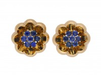J. E. Caldwell sapphire clip on earrings berganza hatton garden