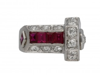Art Deco ruby and diamond ring berganza hatton garden