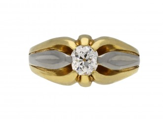 Solitaire cushion shape diamond ring berganza hatton garden