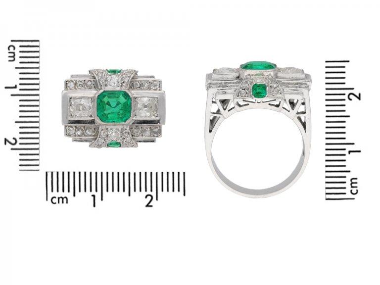 Art Deco emerald and diamond ring berganza hatton garden