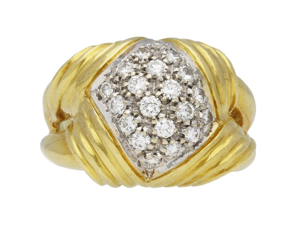 Vintage diamond cocktail ring circa 1945 berganza hatton garden
