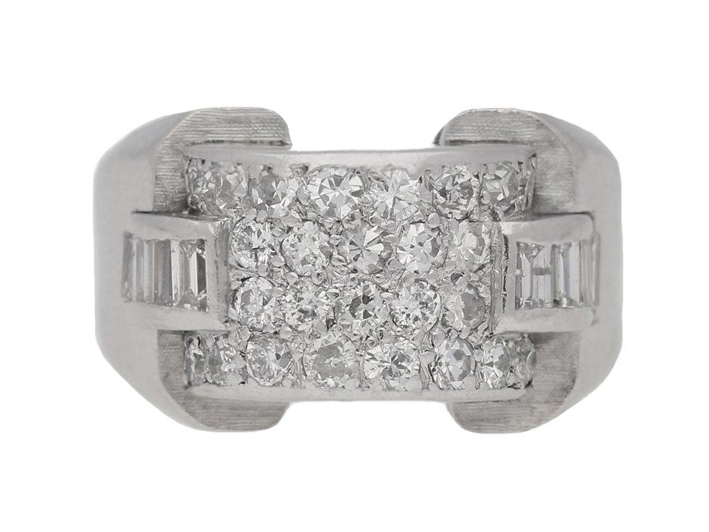 Art Deco diamond cocktail ring, circa 1935. berganza hatton garden