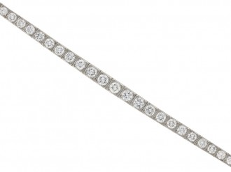 Tapered diamond line bracelet berganza hatton garden