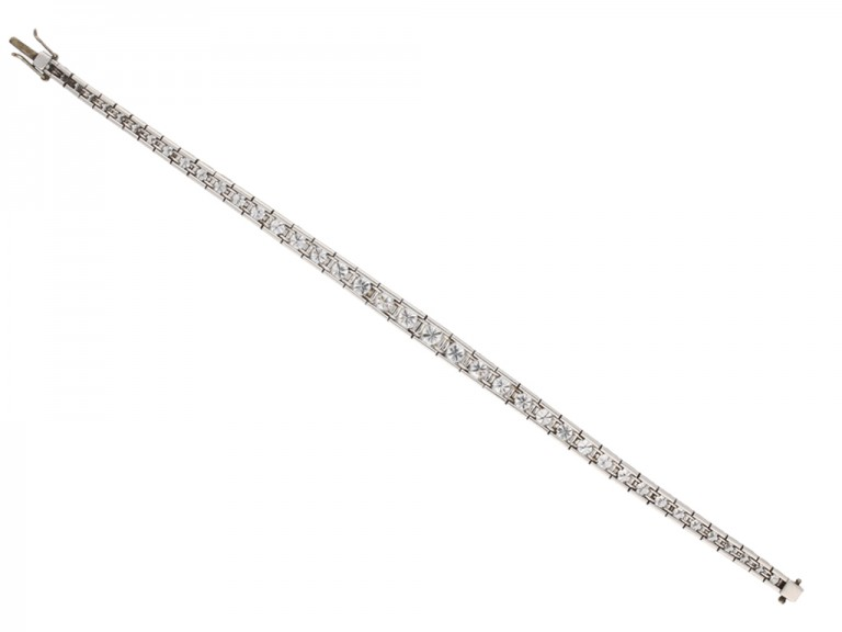 Tapered diamond line bracelet berganza hatton garden